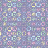 Seamless pattern with colored abstract elements Stock Images