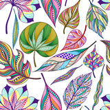 Seamless pattern with colored abstract leaf. Vector illustration, EPS10 Royalty Free Stock Image