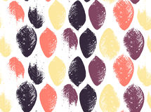Seamless pattern of colored autumn leaves. EPS 10 vector illustration.  Royalty Free Stock Photography