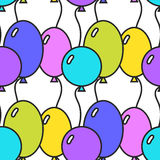 Seamless pattern with colored balloons. Festive background, illustration. Seamless pattern with colored balloons. Festive background. Vector illustration Stock Photography