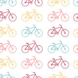 Seamless pattern of colored bicycles Stock Image