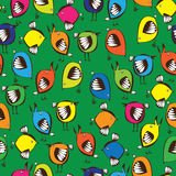 Seamless pattern colored birds Royalty Free Stock Image