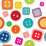 Seamless pattern: colored buttons on a white background Royalty Free Stock Images
