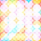 Seamless pattern with colored circles. Abstract background. Vector illustration. Pattern for the wrapping, home decor, website, brochures and presentations in Royalty Free Stock Photo