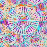 Seamless pattern of colored circles. stock illustration