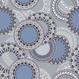 Seamless pattern with circular floral ornament Stock Images