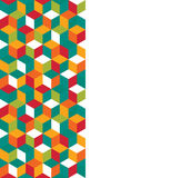 Seamless pattern of colored cubes Royalty Free Stock Image