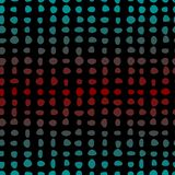 Seamless pattern of colored dots lined up in rows Royalty Free Stock Image