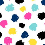 seamless pattern with colored dots royalty free illustration