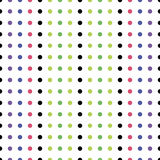 Seamless Pattern of Colored Dots Stock Photo