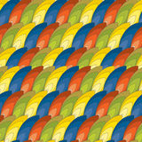 Seamless pattern of colored feathers Royalty Free Stock Photo
