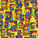Seamless pattern colored  fish Stock Photo