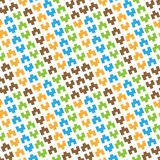 Seamless pattern of colored geometric figures Stock Photography
