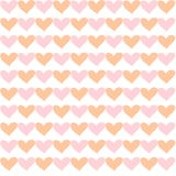 Seamless pattern of colored hearts for decoration vector illustration