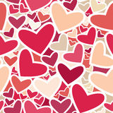Seamless pattern of colored hearts. Royalty Free Stock Photos