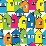 Seamless pattern colored houses Royalty Free Stock Photos