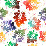 Seamless pattern with colored leaves. Vector. Stock Photography