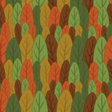 Seamless pattern of colored leaves Royalty Free Stock Photo