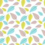 Seamless pattern with colored leaves. Vector illustration Stock Images