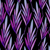 Seamless pattern of colored leaves Stock Photography