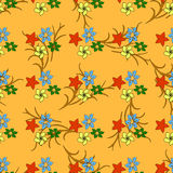 Seamless pattern with colored leaves Royalty Free Stock Photo
