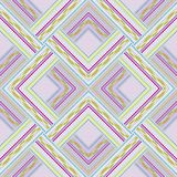 Seamless pattern of colored lines and dots. Stock Images