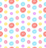 Seamless Pattern with Colored Lollipops. Illustration Seamless Pattern with Colored Lollipops, Giftwrap for Sweets - Vector Royalty Free Stock Images