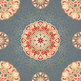 Seamless pattern with colored mandalas Stock Images