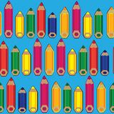 Seamless pattern colored pencils Stock Image