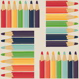 Seamless pattern with colored pencils. Royalty Free Stock Image