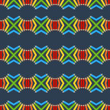 Seamless pattern of colored pencils. Vector seamless pattern of colored pencils Stock Images