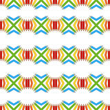 Seamless pattern of colored pencils. Vector seamless pattern of colored pencils Stock Photography