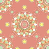 Seamless pattern with colored points and circles Stock Photography