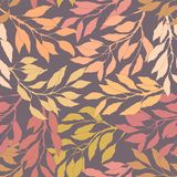 Leafs autumn seamless pattern royalty free illustration