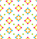 Seamless Pattern with Colored Rhombus, Regular Background Royalty Free Stock Photos