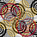 seamless pattern with colored spirals Stock Images