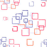 Seamless pattern with colored square royalty free stock images