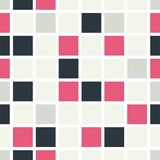 Seamless pattern of colored squares. Colored squares, mosaic with white border. An endless pattern. Tiles, Wallpapers, paper. Vector illustration.n Royalty Free Stock Images