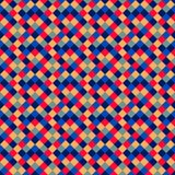 Seamless pattern of colored squares Stock Photos