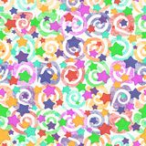 Seamless pattern, colored stars Stock Photos