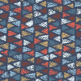 Seamless pattern of colored triangles. Stock Images