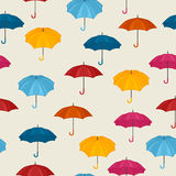 Seamless pattern with colored umbrellas for Royalty Free Stock Image