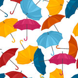 Seamless pattern with colored umbrellas for Stock Photo