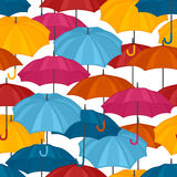 Seamless pattern with colored umbrellas for Stock Image
