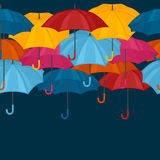 Seamless pattern with colored umbrellas for Stock Photos