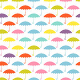 Seamless pattern with colored umbrellas on a white background. Royalty Free Stock Photography
