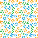 Seamless pattern of colored whorls curlicues Stock Photography