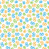 Seamless pattern of colored whorls curlicues Stock Image