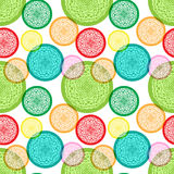 Seamless pattern with colorful abstract elements Stock Image