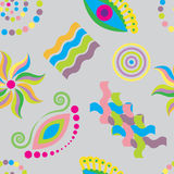 Seamless pattern colorful abstract patterns on gray background.vector illustration Stock Photos